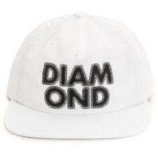 Diamond Supply Co Blur Nylon Strapback Snapback Hat in White