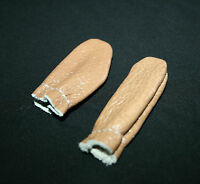 Genuine Leather Thimbles FINGER & THUMB GUARD set 2 PROTECTORS QUILTING SEWING