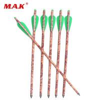 20IN 12PCS Mixed Carbon Crossbow Arrow Outside Diameter 8.8mm W/Arrowhead F Hunt