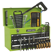 Toolkit ToolChest 3 Drawer HI VIS GREEN 93pce TOOLBOX TOOLKIT