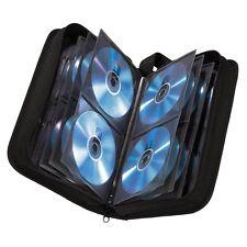 Hama 120 CD/DVD Wallet Storage Carry Case + Handle Nylon Black