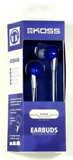 181040  KOSS KEB6i In-Ear Headphones/Earbuds (Blue),Inline 1-touch microphone