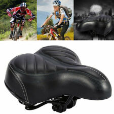 Extra Wide Big Soft Bicycle Saddle Comfort Sporty Bike Pad Spring Seat Cushion