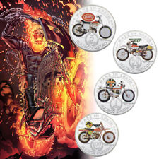 WR Spain 1/5/50/100 Pesetas Silver Coin Sets Bultaco Matador Motorcycle Collect