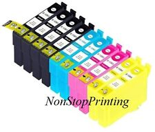 10PK 2 Set + 2 Extra BK Ink For Epson 126 T1261 -T1264 WorkForce 520 630 840 845