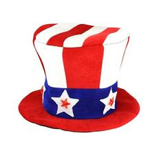 Patriotic LED Light up Top Hat - 8in Tall