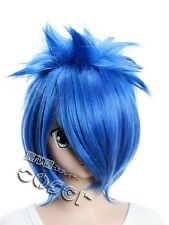 W-106 vocaloid Kaito Cosplay perruque wig Bleu Blue 36cm Hitzefest anime manga