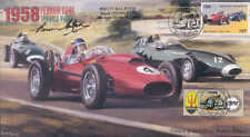1958a FERRARI D246 AND VANWALL VW(57)s, REIMS F1 cover signed BRUCE HALFORD