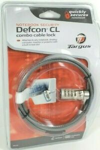 Targus Defcon CL Combo Cable Security Lock for Laptops & More PA410U Brand New