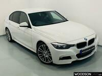 2013 13 BMW 3 SERIES 2.0 320D M SPORT 4D 181 BHP DIESEL AUTOMATIC IN WHITE
