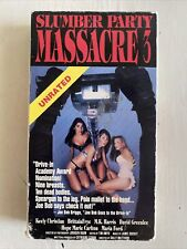 Slumber Party Massacre 3 VHS unrated Comedy Horror cult indie slasher gore HTF