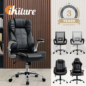 Oikiture Office Chair Gaming Executive Computer Chairs Racing Seat Recliner