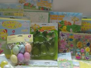 Easter Decorations Chick Lamb Arts & Crafts Stickers, Paper Chains,Egg Hunt Kits