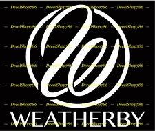 Weatherby Firearms - Hunting/Outdoor Sports - Vinyl Die-Cut Peel N' Stick Decal