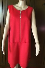 MARINA RINALDI VOYAGE  Fantastic double dress  Woman red color, size 17, lined