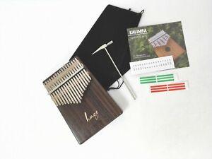 Haze 01R Solid Rosewood Kalimba MBIRA Thumb Piano,17-Key,Tutorial Manual,Hammer