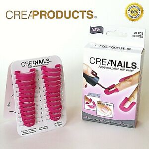 Original CreaNails - 26 Piece Soft Nail Polish Stencils, All Sizes, French Nail