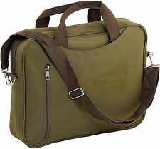 Kaki zippé document ordinateur portable messenger sac à bandoulière mallette sacoche case