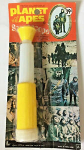 Planet of the Apes Spacescope Toy Vintage Apjac POTA-yellow-Sealed 1970s