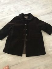 Bonpoint Girls Winter Coat Jacket Size 4 Brown Velour Long Sleeve Button Front