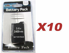 10 x PSP 2000 3000 (SLIM) Replacement Battery Packs 3.6v 2400 mAh