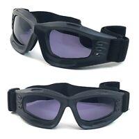Details about  /NWT Biker Goggles Vagabond Sky Diving Anti Fog Men Women Padded Frame Smoke Lens