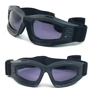NWT Motorcycle Goggles Rowan Padded Anti Fog Lens Men Women Black Frame