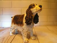 COCKER SPANIEL FIGURE GIFT Brown and White Cocker # Dog Figure Figurine Ornament