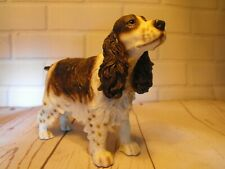 More details for cocker spaniel figure gift brown and white cocker # dog figure figurine ornament