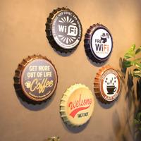 Metal Cap Sign Retro Tin Vintage Plaques Bar Beer Cafe Club Wall Decor 35*35*3.5