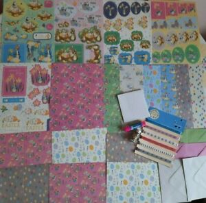 CRAFTROOM CLEAROUT CARD MAKING  PETER RABBIT, TOPPERS, PAPERS ,SENTIMENTS, MORE