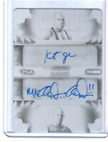 TNA Kurt Angle Anderson 2013 Impact LIVE Printing Plate Autograph Card SN 1 of 1