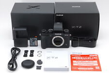 【ALMOST UNUSED IN BOX】 Fujifilm X-T2 24.3MP Digital SLR Camera Black From JAPAN