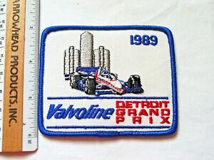 Detriot Grand Prix Racing Patch 1989 race Valvoline Sponsor