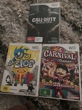 Wii PAL 3 games - Call Of Duty Black Ops, De Blob, & Carnival Games