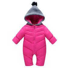 Boys Girls Pramsuit Snowsuit Winter Coat Warm Hooded Fully Lined