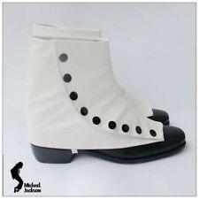 Michael Jackson Smooth Criminal weiss Shoe Cover aus sehr weich PU Leder MJ143
