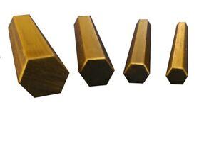 Short length CZ121 Brass Hex Bar 5, 6, 8 &10mm A/F - 50mm Long 1, 5 & Multi Pack
