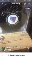 New York Rangers Puck Mike Richter Signed NHL Steiner Sports Authentication