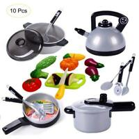 10 PCS Children Kitchenware Toys Simulation Cookware Toy Set Kids Role Play Toys