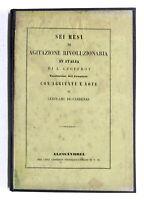 Risorgimento - Geoffroy - Sei mesi di agitazione rivoluzionaria in Italia - 1849