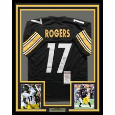 101fc1221 FRAMED Autographed Signed ELI ROGERS 33x42 Pittsburgh Football Jersey JSA  COA