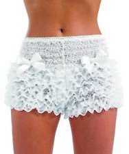 Ladies Ruffle Panties Frilly Knickers Fancy Dress Black Lace New by Smiffys