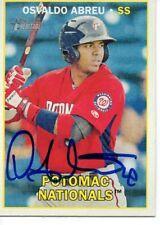 Osvaldo Abreu Potomac Nationals 2016 Topps Heritage Minors Signed Card