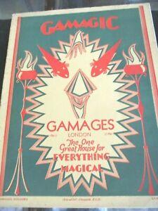 RARE # 9 Vintage Gamages Magic Catalog London England
