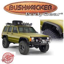 Bushwacker Black Flat Style Fender Flares 1984-2001 Jeep Cherokee XJ 4pc Set