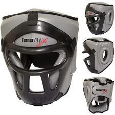 TurnerMAX HEAD GUARD BOXE PROTEZIONE CASCO Con Rimovibile Faccia Maschera GRIGIO