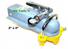 """2"""" x 2"""" Tongue Trailer Hitch Ball Coupler With Hitch Lock & Coupler Lock Set"""
