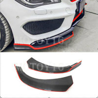 Real Carbon Fiber Front Lip Splitters Canards for Mercedes W/C117 250 CLA45 AMG
