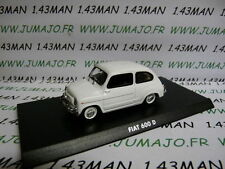 Voiture 1/43 Hachette Solido : FIAT 600 blanche
